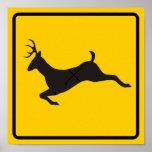Deer Crossing Highway Sign Print