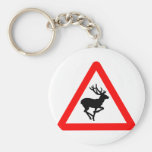 Deer Crossing Sign for Hunters Keychain