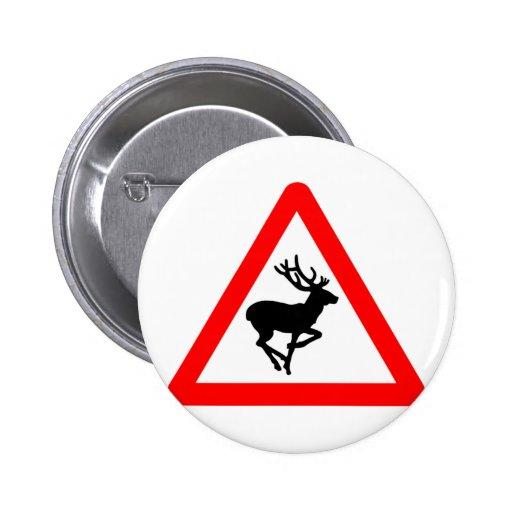 Deer Crossing Sign for Hunters Pins