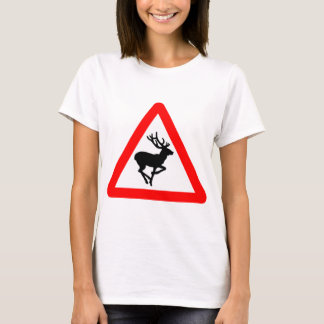 Deer Crossing Sign for Hunters T-Shirt