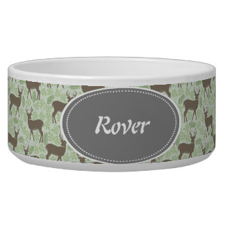 Deer Design Pet Food Bowl