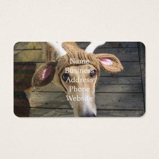 Deer dog - cute dog - whippet business card
