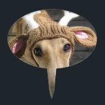 "Deer dog - cute dog - whippet cake topper<br><div class=""desc"">&quot;greyhound , dog&quot; , &quot;christmas , animals , pet&quot; , &quot; , santa , cute , deer&quot; , &quot;nature , hound , antlers&quot;, &quot;merry christmas&quot;, reindeer</div>"