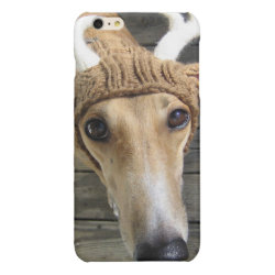 Case Savvy iPhone 6 Plus Glossy Finish Case with Whippet Phone Cases design