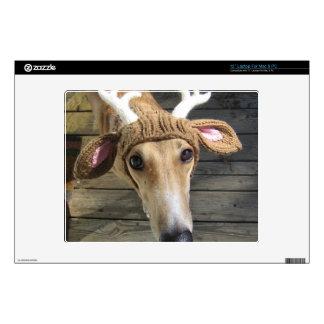Deer dog - cute dog - whippet laptop decal