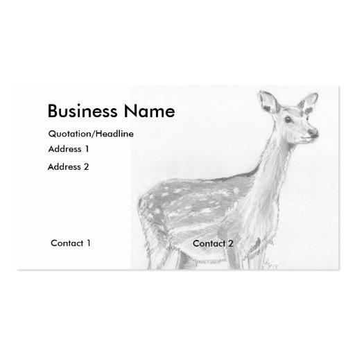 Deer Drawing Business Cards