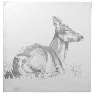 Deer Drawing Cloth Napkin
