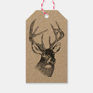 DEER DRAWING Custom Gift Tags Pack Of Gift Tags