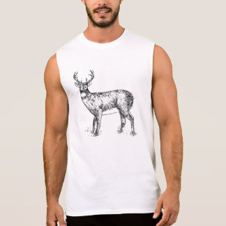 Deer drawing on t-shirts