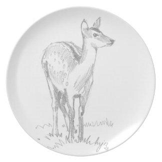 Deer Drawing Plate
