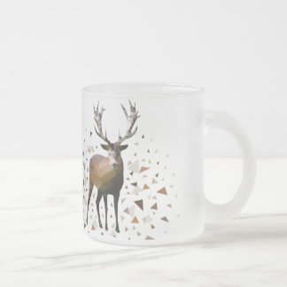 Deer dream frosted glass coffee mug