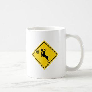 deer dunking coffee mug