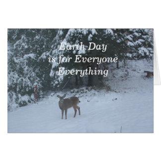 Deer Earth Day Card