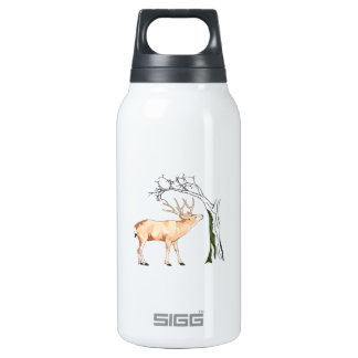 DEER EATING MOSS 10 OZ INSULATED SIGG THERMOS WATER BOTTLE