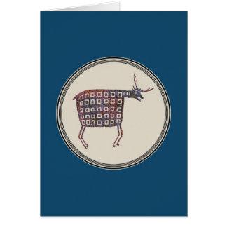 Deer, Elk Mimbres Pottery, Image 17 Card