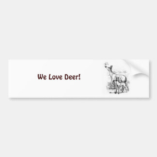 Deer Family Bumper Stickers