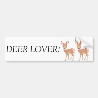 Deer Family Car Bumper Sticker