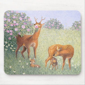Deer Family Mouse Pad