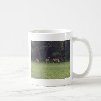 Deer Family Classic White Coffee Mug