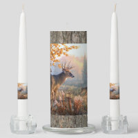 Deer Family Playing In Field Unity Candle Set