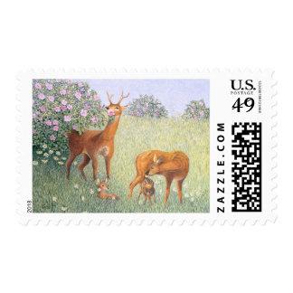 Deer Family Postage