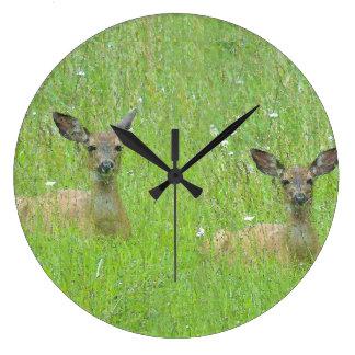 Deer Family Wall Clock