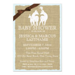 Deer Family Woodland Baby Shower Custom Announcements