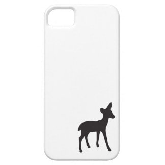 Deer fawn black white rustic chic silhouette cute iPhone SE/5/5s case