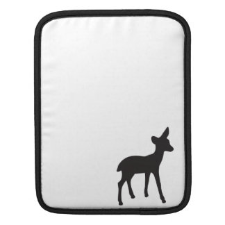 Deer fawn black white silhouette iPad sleeve