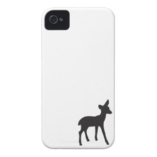 Deer fawn black white silhouette iPhone 4S case iPhone 4 Cover