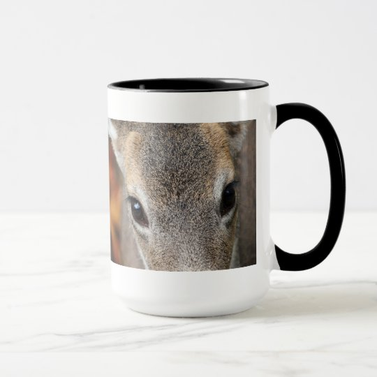 Deer Fawn Closeup Portrait Mug