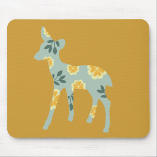 Deer fawn country pattern silhouette mousepads