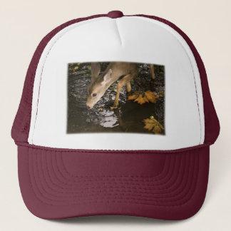 Deer Fawn in a Creek Trucker Hat