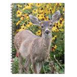 Deer Fawn in Flower Garden Note Books