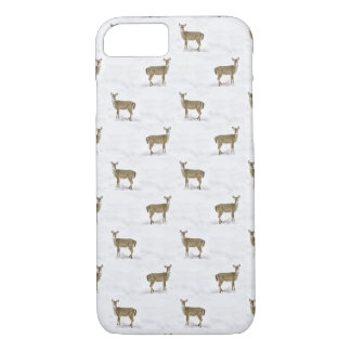 Deer fawn in winter iPhone 7 case
