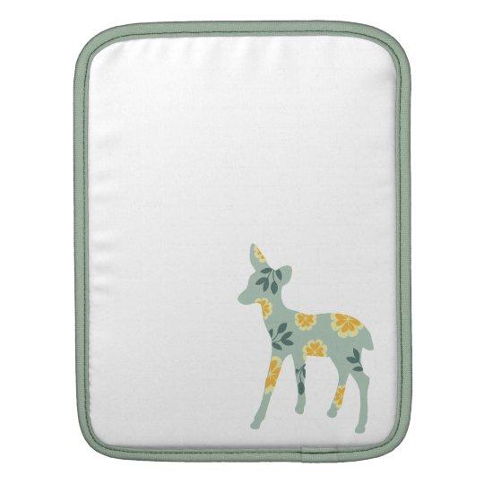 Deer fawn nature pattern silhouette cute folk art sleeve for iPads