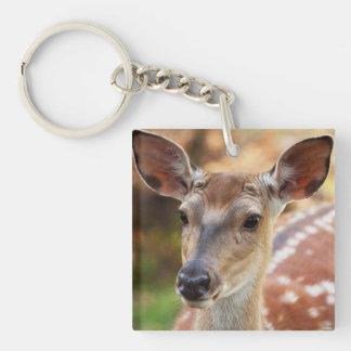 Deer Fawn Portrait Keychain