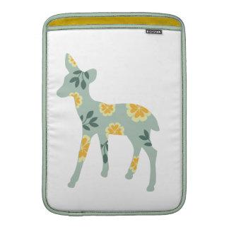 Deer fawn silhouette cute folk art nature pattern MacBook sleeve