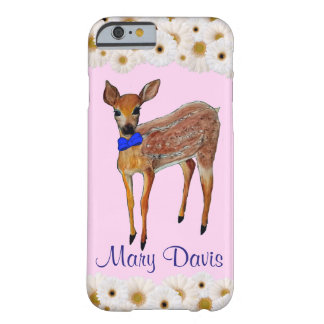 Deer Fawn with Daisies Personalized Phone Case