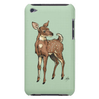 Deer/Fawn with mint background iPod Touch Cover