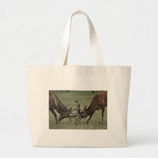 Deer Fight Jumbo Tote Bag