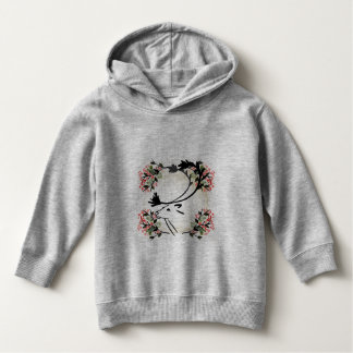 deer flower pretty fancy toddler hoodie