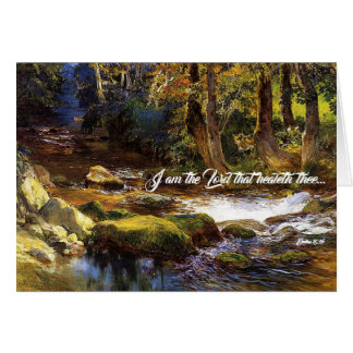 Deer Forest Stream River God Heals Card