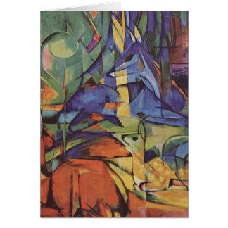 Deer - Franz Marc Card