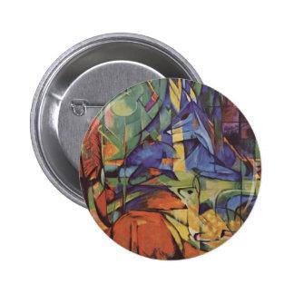 Deer - Franz Marc Pinback Button