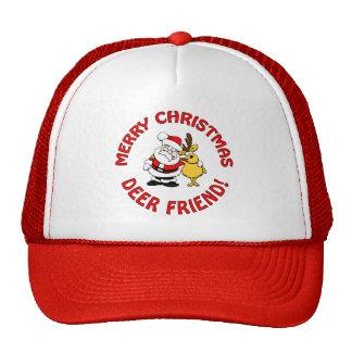 """""""Deer Friend"""" Christmas hat, choose color"""
