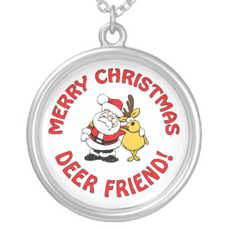 """Deer Friend"" Christmas necklace"