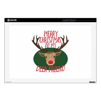 "Deer Friend Decal For 17"" Laptop"