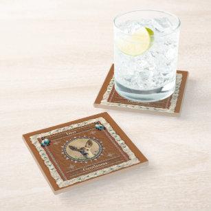 Deer -Gentleness- Glass Coaster