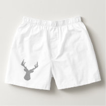 Deer - geometric pattern - gray and white. boxers